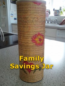 Family Savings Jar